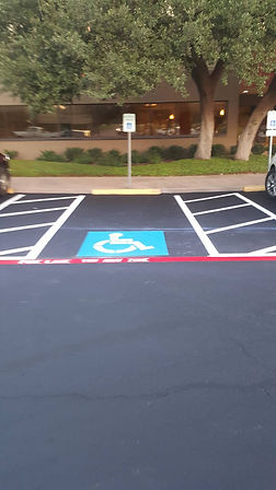 Parking lot Striping Contractor in Round Rock, TX