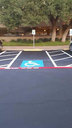 Parking lot striping in Austin, TX
