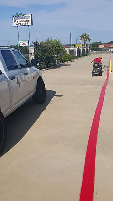 Striping in Leander, Texas