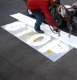 Pavement Stenciling Austin TX, Parkign l