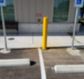 Striping | Wheel Stop, ADA Signs, and Bollard Installation
