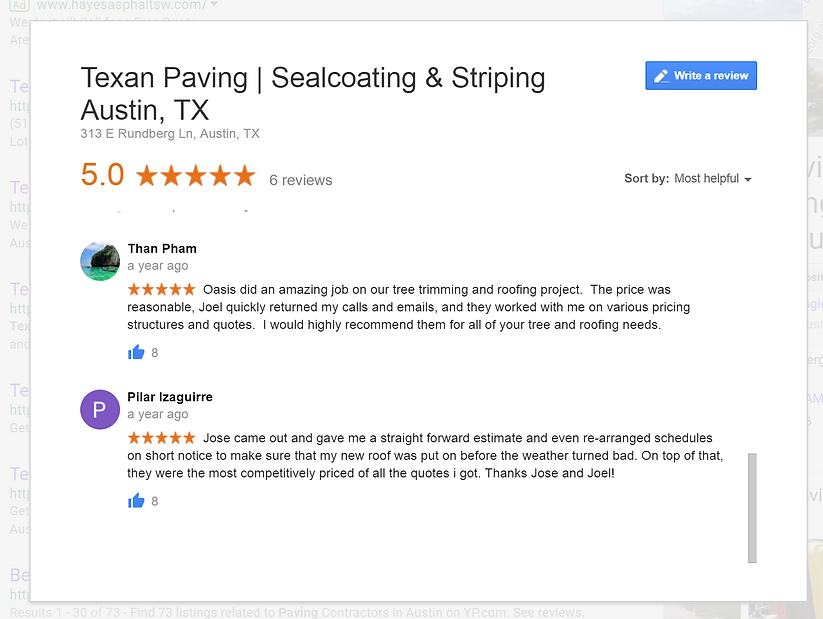 Texan Paving in Austin, exas | Reviews