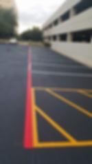 Parking lot striping   Leander, Texas