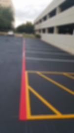 Parking lot striping in San Marcos, TX