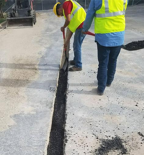 Asphalt trench in Austin, TX | Asphalt Contractors