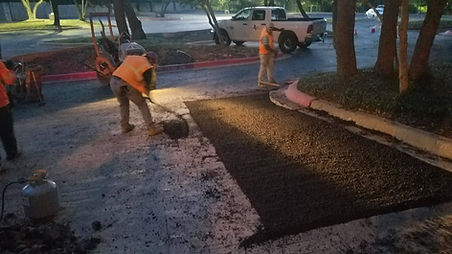 Commercial Asphalt Patching   Texan Paving