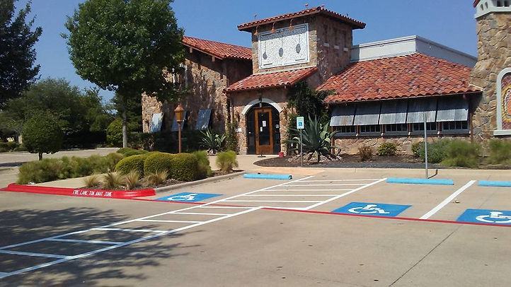 Fire Lane striping in Georgetown, Texas