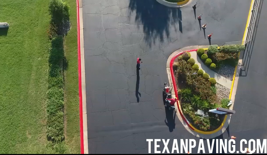 Parking Lot striping in Temple, TX | Texan Paving