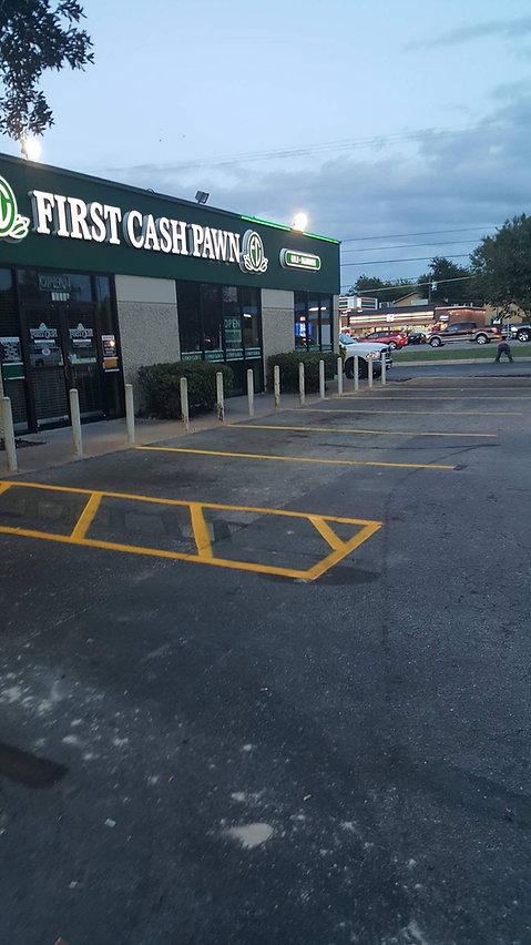 Striping   Stenciling   Parking lot striping in Austin, TX