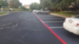 Parking lot striping | Georgetown, Texas