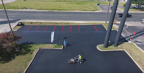 Parking lot striping | Leander, Texas