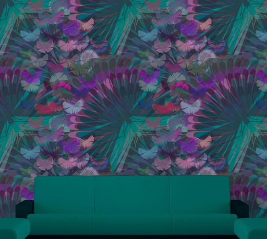 Mystical moths wallpaper