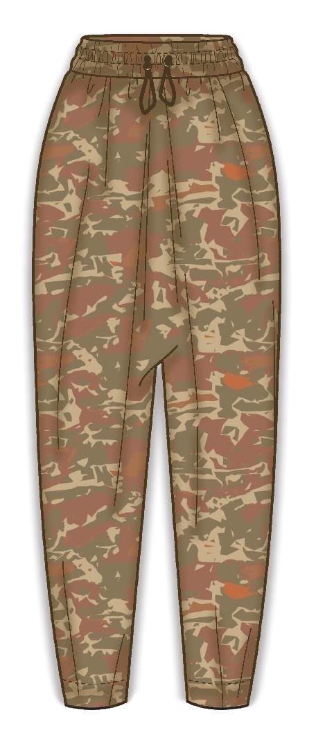 Desert camo relaxed pants