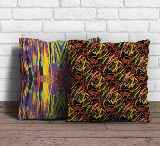 Neon statement cushions
