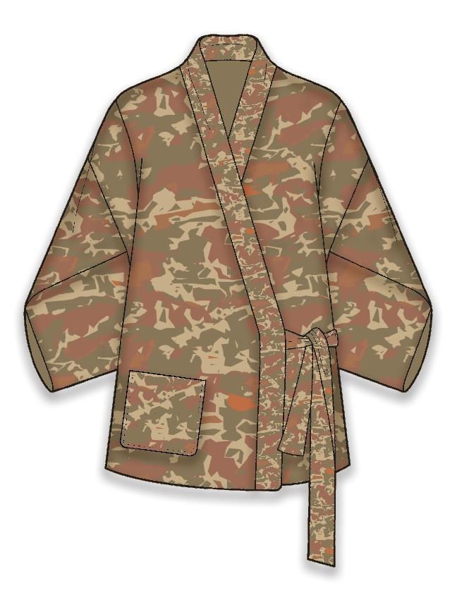 Desert camo relaxed jacket
