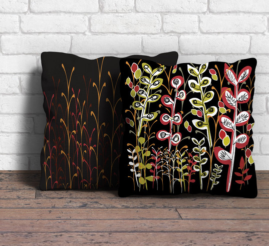 Bright blooms cushion covers