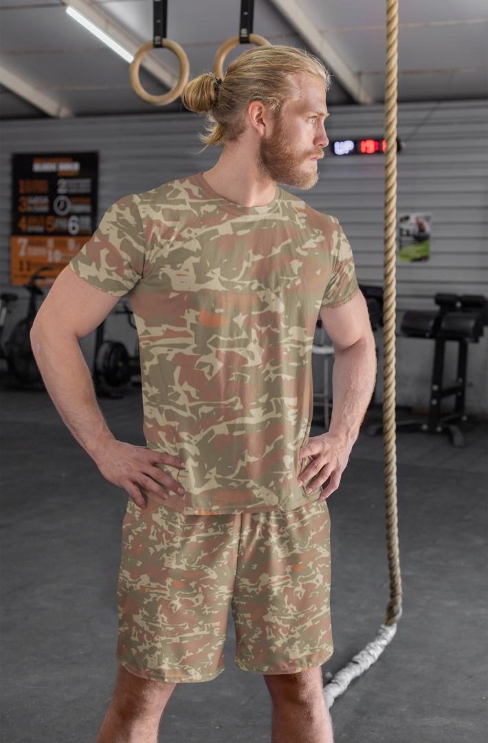 Desert camo t-shirt and shorts