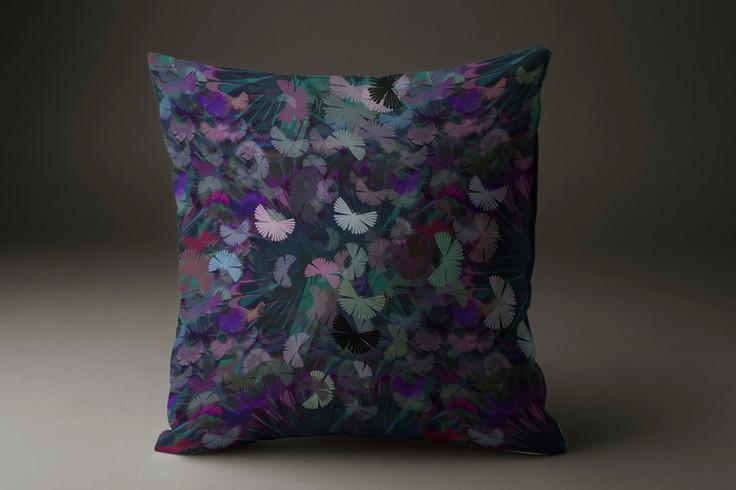 Mystical moths cushions