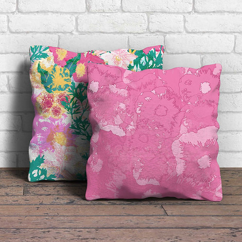 Floral collage cushion covers