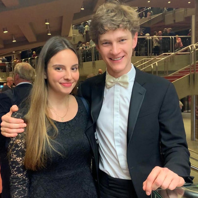 With pianist and colleague Jan Lisiecki (2020)