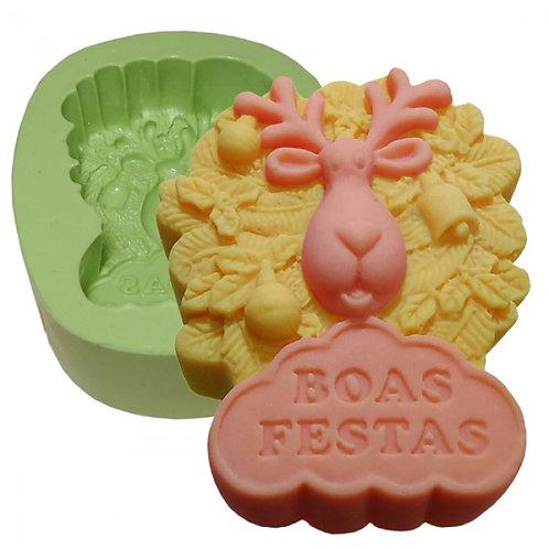 FORMA SILIC. RENA BOAS FESTAS -  166728
