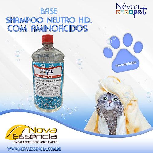 BASE PET SHAMPOO NEUTRO HIDRATANTE COM AMINOÁCIDOS 1L CAO/ GATO- 330004