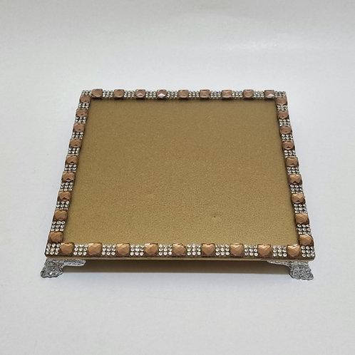 BANDEJA BASE QUADRADA DOURADA 15x15 - 044001