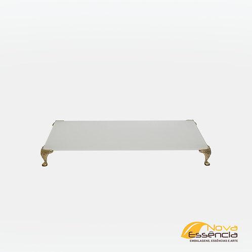 BANDEJA DE VIDRO BASE 10x20 COM PÉ - 040096