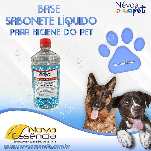 BASE PET SABONETE LIQUIDO TRANSPARENTE 1LITRO  CAO/ GATO- 330006