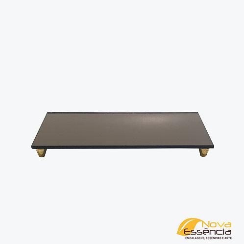 BANDEJA DE VIDRO BASE 10x20 COM PÉ - 040085