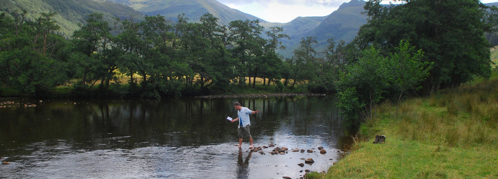 Reading Particle Physics To a River (image courtesy of Bram Thomas Arnold)