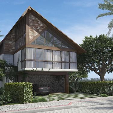 Maquete eletrônica de casa padrão do condomínio Blue lake- Arraial do Cabo-RJ