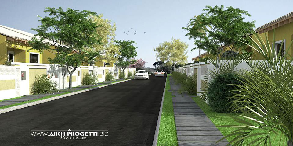 Perspectiva-Ilustrativa--rua-do-condominio--golden-park--Araruama