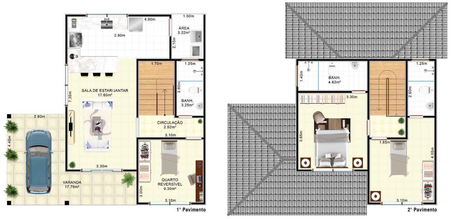 Planta-Humanizada-Casa-1-Ecoplace-Maricá-RJ