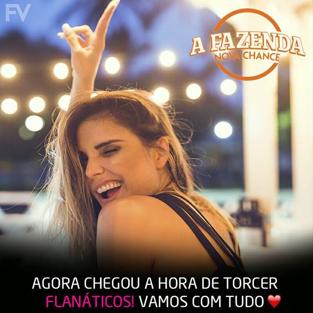 Flavia Viana está no reality show A FAZENDA da Recorde chega com o pé direito