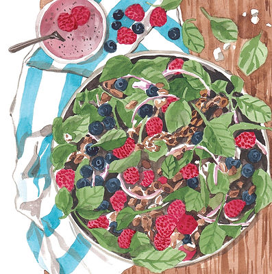 Lunch - very berry spinach salad.jpg