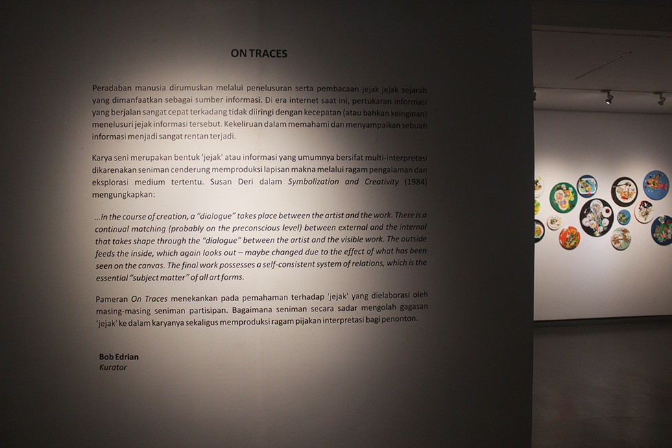 ON TRACES Curatorial
