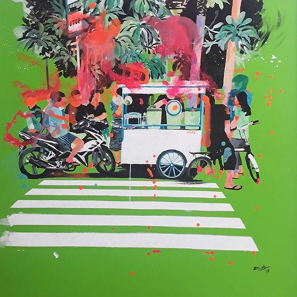 Street King-100x100cm-acrylic on canvas.
