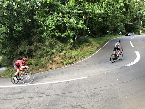 Cycling up Porlock Hill.HEIC