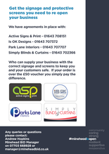 Minehead Business Ready Flyer Back