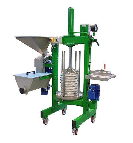 Pressoir avec broyeur pour l'extraction d'huile d'olive
