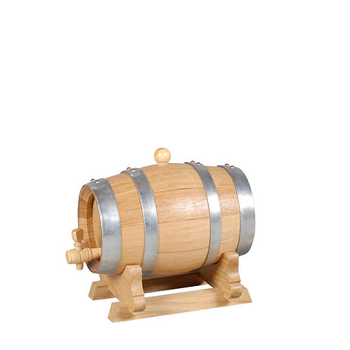 Tonnelet en chêne vernis avec robinet