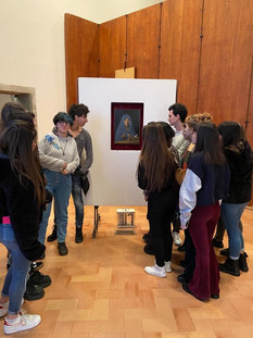 Palazzo Abatellis -Liceo Catalano -settimana di scambio 10-14 febbraio 2020. Studenti italiani e belgi a Palermo per il progetto EHON.