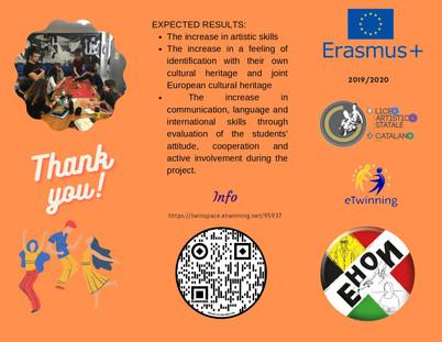 EHON locandina_Liceo Catalano -settimana di scambio 10-14 febbraio 2020. Studenti italiani e belgi a Palermo per il progetto EHON.