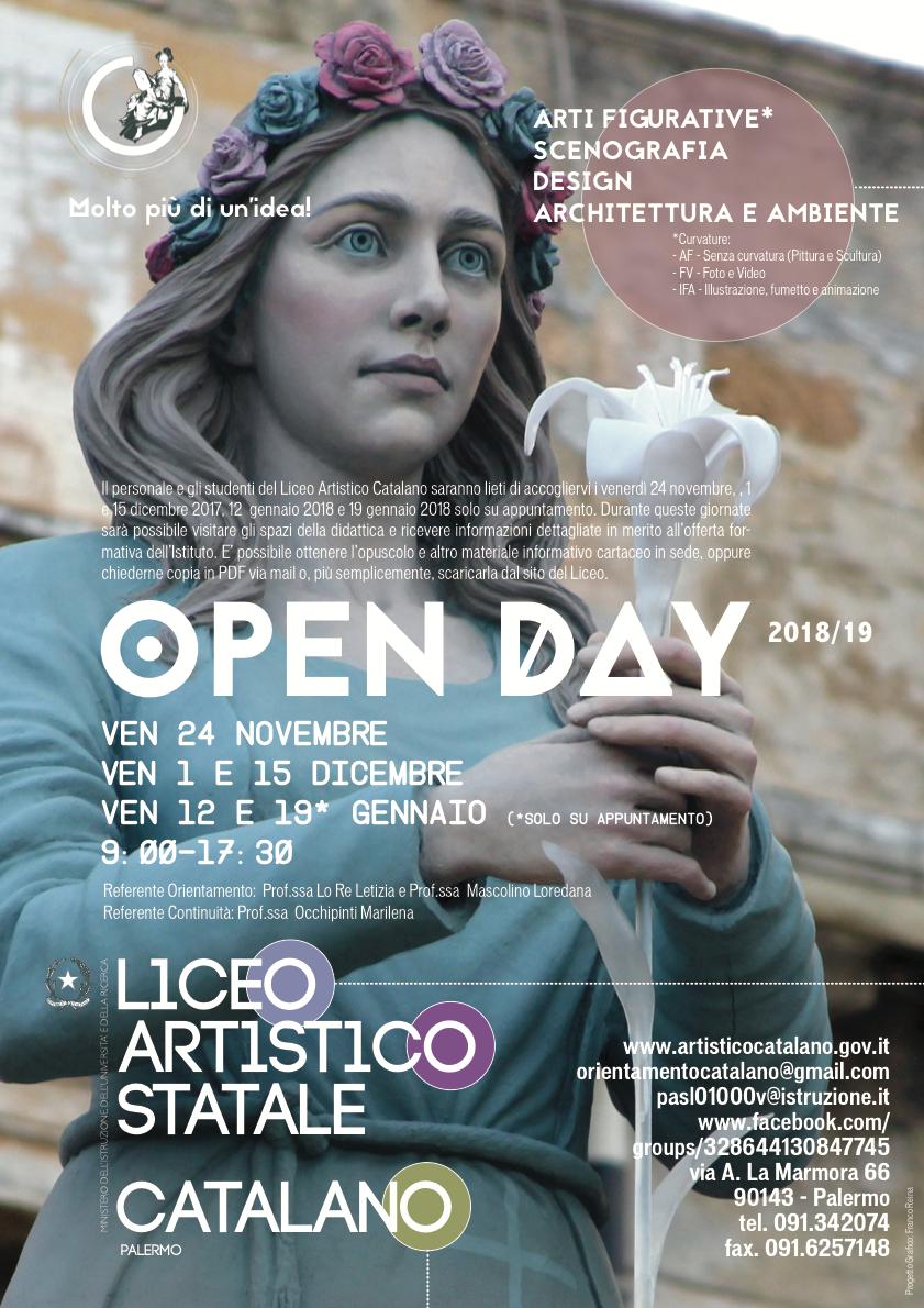Open Day per a.s. 2018/19