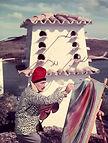 Dalvador Dalì che dipinge.