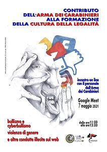 Locandina illustrata per l'Evento-legalità-Carabinieri