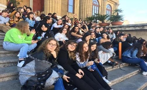 teatro massimo-Liceo Catalano -settimana di scambio 10-14 febbraio 2020. Studenti italiani e belgi a Palermo per il progetto EHON.