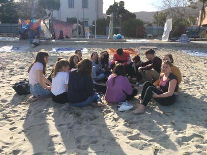 Afternoon in Mondello-Liceo Catalano -settimana di scambio 10-14 febbraio 2020. Studenti italiani e belgi a Palermo per il progetto EHON.