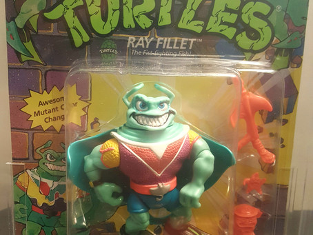 1991  TMNT 44  Back  AFA Graded 80NM Ray Fillet Color Change Red  V Unpunched